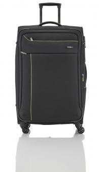 Travelite Solaris Trolley L 4w 77 cm, erweiterbar schwarz-limone