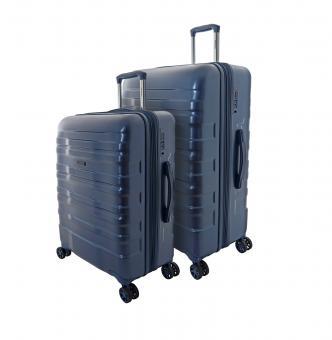 Travelmax Brooklyn Trolley Set 2-tlg. M / L, 4 Rollen Blau