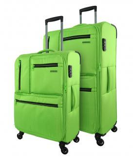 Travelmax Jump Set 2-tlg. 4 Rollen, Trolley M / L Schwarz