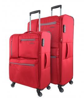 Travelmax Jump Set 2-tlg. 4 Rollen, Trolley M / L Rot