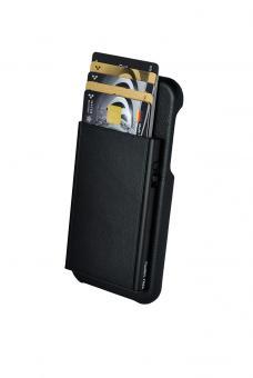 Tru Virtu Click & Slide Pay & Phone Kartenetui und Smartphoneülle - iPhone X Nappa Black/Black