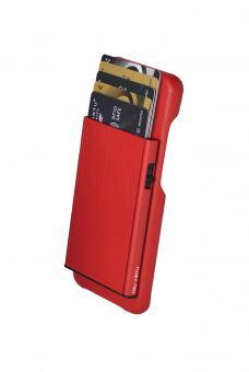 Tru Virtu Click & Slide Pay & Phone Kartenetui und Smartphoneülle - Samsung Galaxy S8 Nappa Coral/Red