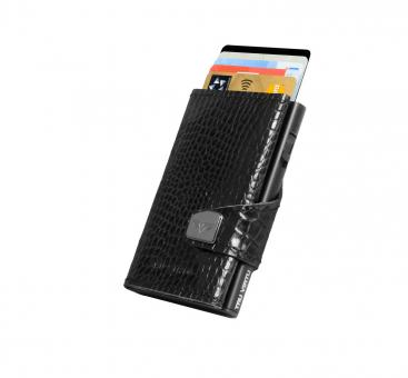 Tru Virtu Click & Slide Wallet Croco Black