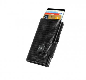 Tru Virtu Click & Slide Wallet Diagonal Carbon/Black