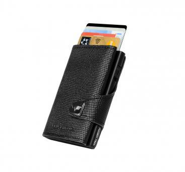 Tru Virtu Click & Slide Wallet Lizard Black