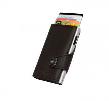 Tru Virtu Click & Slide Wallet Nappa Brown