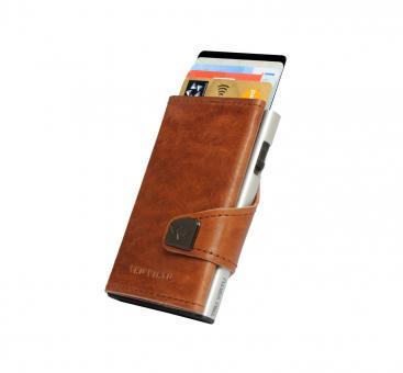 Tru Virtu Click & Slide Wallet Natural Brown