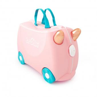 Trunki Ride-On Flossi der Flamingo Kinderkoffer
