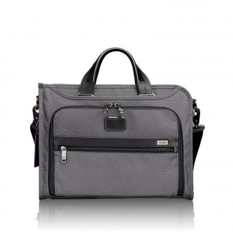 Tumi Alpha 2 Deluxe Collegemappe, schmal Pewter
