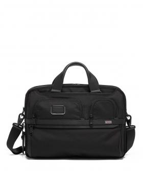 Tumi Alpha 3 T-Pass Laptop-Aktentasche Medium aus Ballistic Nylon black