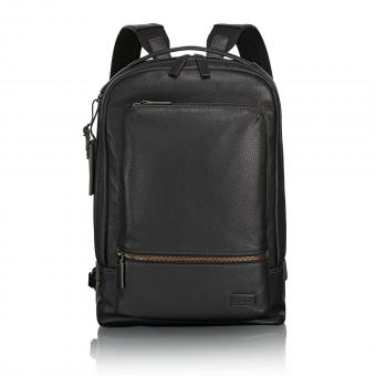 Tumi Harrison Bates Leder-Rucksack black pebbled