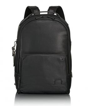 Tumi Harrison Webster Leder-Rucksack black pebbled