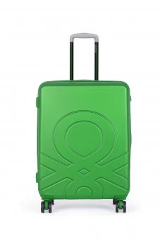 United Colors of Benetton ULTRA LOGO Cabin Trolley mit 4 Rollen S Grün