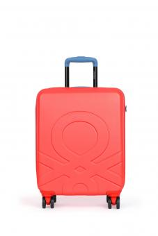 United Colors of Benetton ULTRA LOGO Cabin Trolley mit 4 Rollen S Rot/Blue