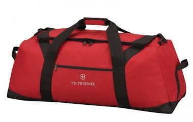 Victorinox Travel Accessories 4.0 Large Travel Duffel Reisetasche, Schwarz Rot