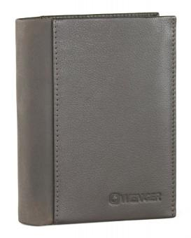 Wenger Nexus Hochformatbörse mit Klappe, vertikal 10x13x1,5 cm Dunkelbraun
