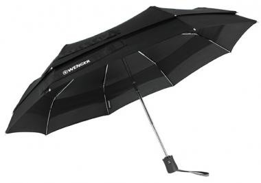 Wenger Rubberstyle Umbrellas Partner-Taschenschirm Automatik, doppel Nylon Schwarz