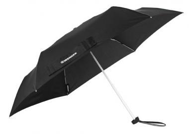 Wenger Rubberstyle Umbrellas Taschenschirm Flach Schwarz