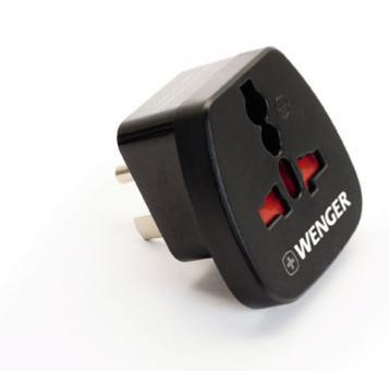 Wenger Travel Accessories Geerdeter Adapter Stecker - Nord / Süd-Amerika Schwarz