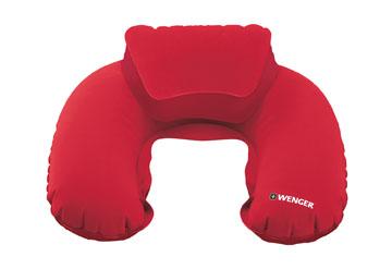 Wenger Travel Accessories Nackenkissen De Luxe inklusive Hülle im Taschenformat Rot