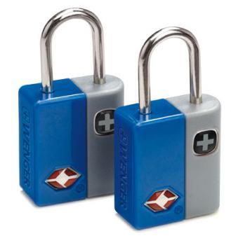 Wenger Travel Accessories Travel Sentry Schlüsselschloss 2er-Set mit 4 Schlüsseln Blau
