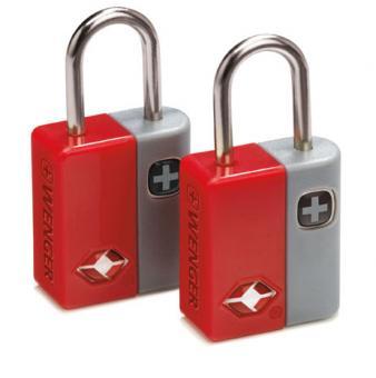 Wenger Travel Accessories Travel Sentry Schlüsselschloss 2er-Set mit 4 Schlüsseln Rot