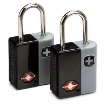 Wenger Travel Accessories Travel Sentry Schlüsselschloss 2er-Set mit 4 Schlüsseln Schwarz