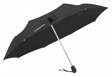 Wenger Umbrellas Taschenschirm manuell, Fiberglas Schwarz
