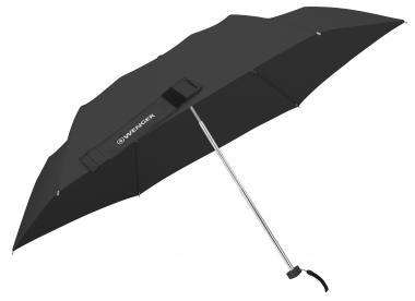 Wenger Umbrellas Taschenschirm Ultraflach manuell, Fiberglas Schwarz