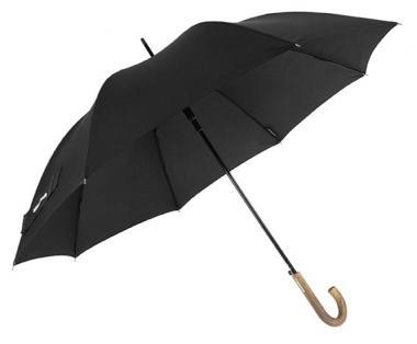 Wenger Woodenstyle Umbrellas Herrenstockschirm Automatik Schwarz