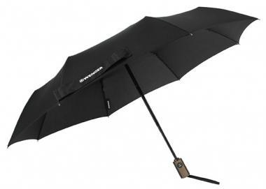 Wenger Woodenstyle Umbrellas Partnerschirm Automatik Schwarz