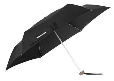 Wenger Woodenstyle Umbrellas Taschenschirm Flach Schwarz