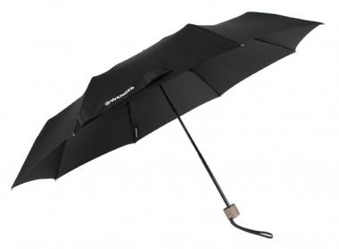 Wenger Woodenstyle Umbrellas Taschenschirm manuell Schwarz