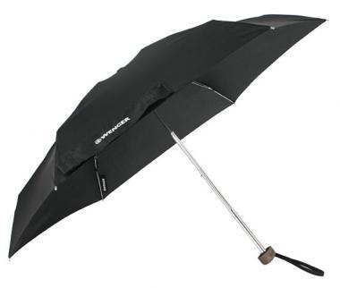 Wenger Woodenstyle Umbrellas Taschenschirm Super-Mini Schwarz