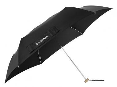 Wenger Woodenstyle Umbrellas Taschenschirm Ultraflach Schwarz