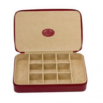 Windrose Merino Charmbox für die Reise rot