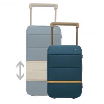 Xtend Smart Carry on, erweiterbar, mit Powerbank und Fingerabdruck-Schloss Ink Blue - Champagne