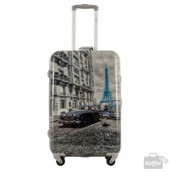 YNot? Yes Case Trolley M 4 Rollen Paris Blue Rain