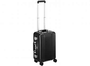 Zero Halliburton Zeroller Classic Aluminium Carry on 4 Wheel Spinner Travel Case Black