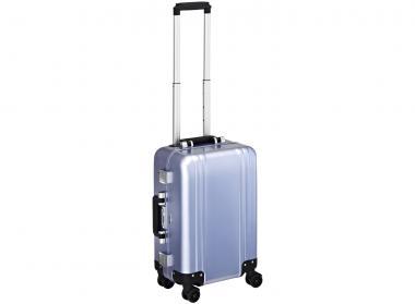 Zero Halliburton Zeroller Classic Aluminium Carry on 4 Wheel Spinner Travel Case Polished blue