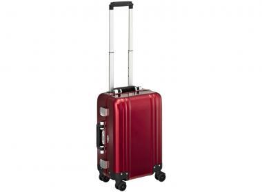 Zero Halliburton Zeroller Classic Aluminium Carry on 4 Wheel Spinner Travel Case Red