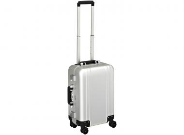 Zero Halliburton Zeroller Classic Aluminium Carry on 4 Wheel Spinner Travel Case Silver