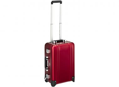 Zero Halliburton Zeroller Classic Aluminium Carry on 2 Wheel Travel Case Red