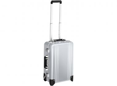 Zero Halliburton Classic Framed Carry on 2 Wheel Travel Case silver