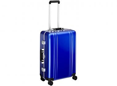 Zero Halliburton Classic Framed 4 Wheel Spinner Travel Case 24 Zoll blue