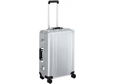 Zero Halliburton Classic Framed 4 Wheel Spinner Travel Case 24 Zoll silver