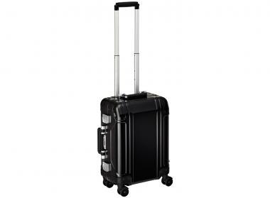 Zero Halliburton Geo Aluminium Carry on 4 Wheel Spinner Travel Case Black