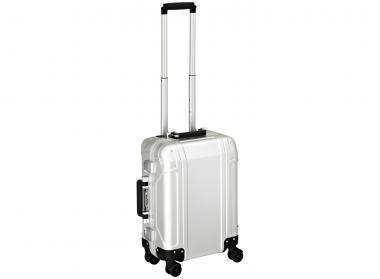 Zero Halliburton Geo Aluminium Carry on 4 Wheel Spinner Travel Case Silver