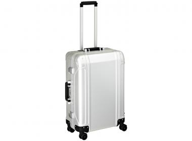 Zero Halliburton Geo Aluminium 4 Wheel Spinner Travel Case 24 Zoll silver