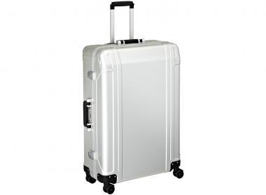 Zero Halliburton Geo Aluminium 4 Wheel Spinner Travel Case 30 Zoll Silver